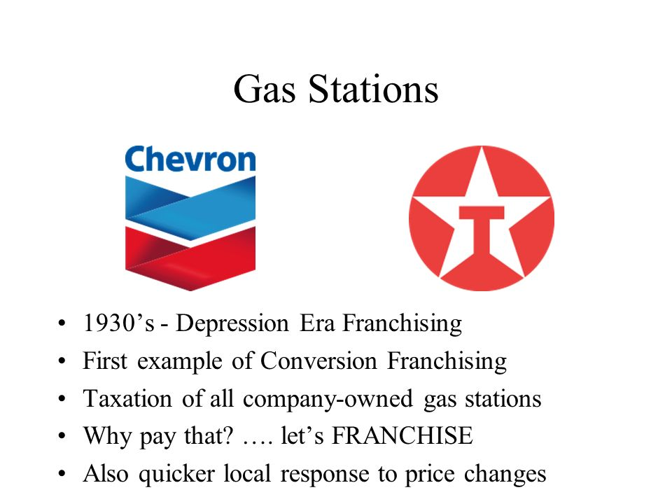 Gas Stations 1930's - Depression Era Franchising