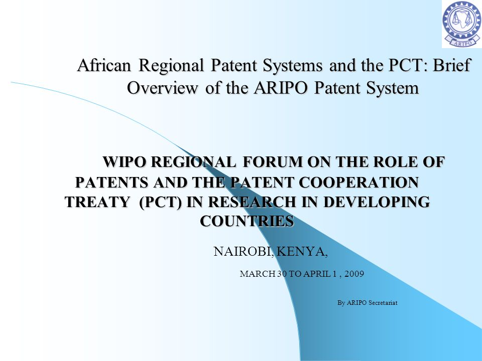 African Regional Patent Systems and the PCT: Brief Overview of the ARIPO Patent System