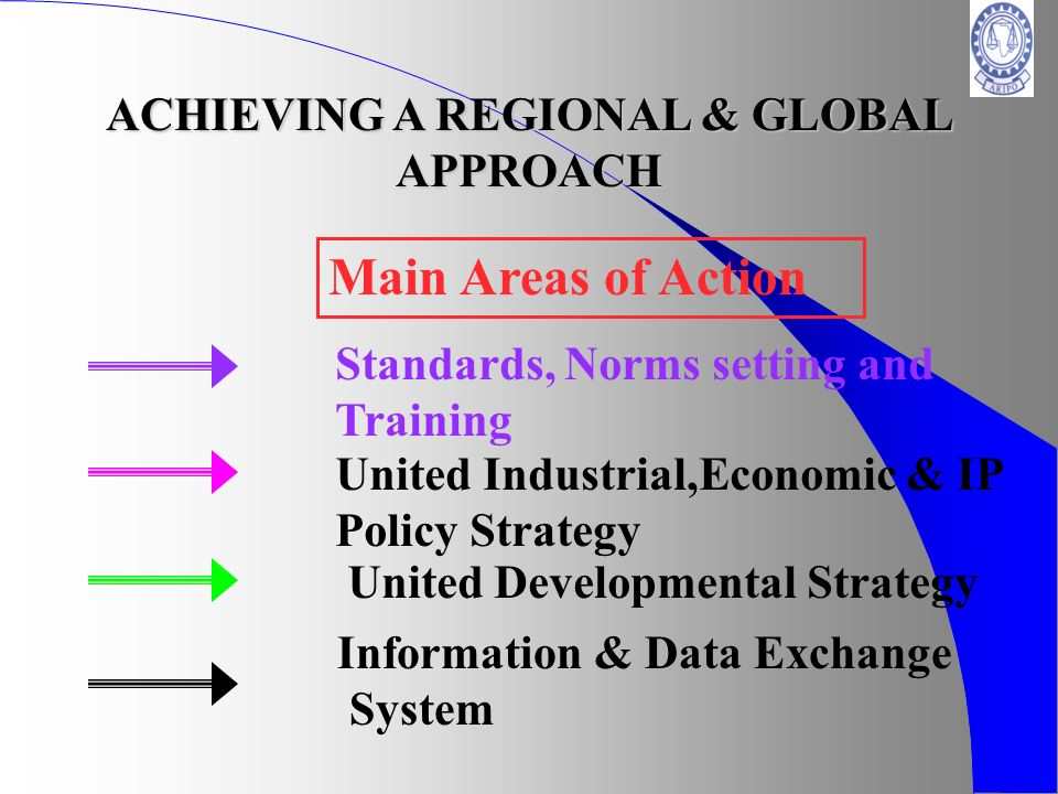 ACHIEVING A REGIONAL & GLOBAL APPROACH