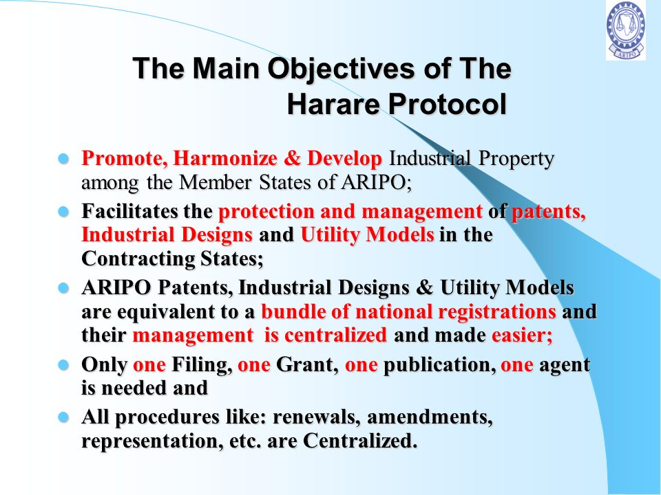 The Main Objectives of The Harare Protocol