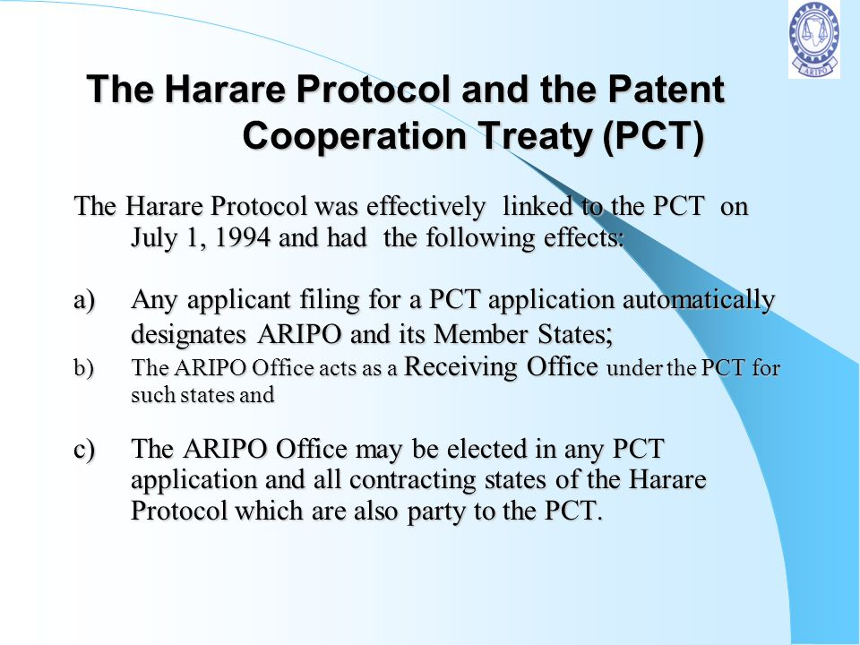 The Harare Protocol and the Patent Cooperation Treaty (PCT)