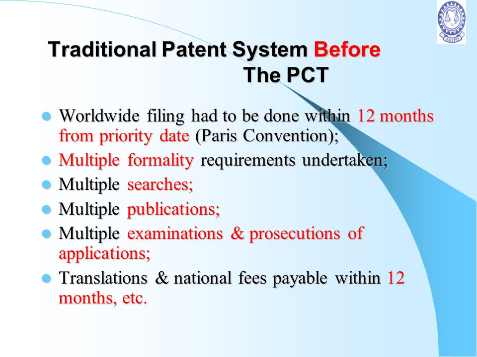 Traditional Patent System Before The PCT