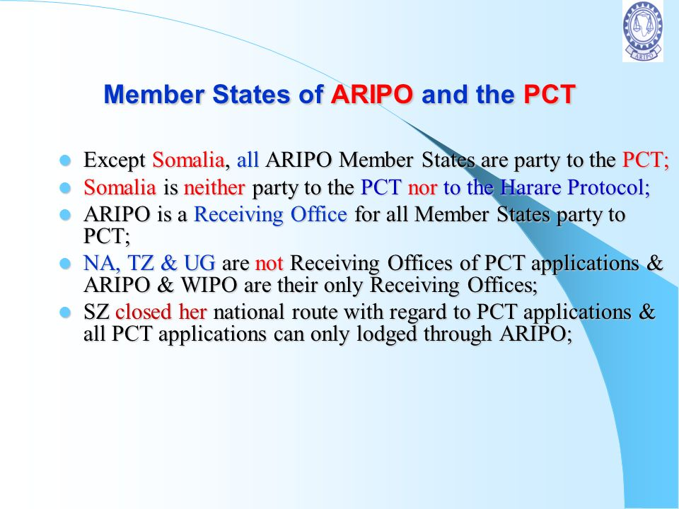Member States of ARIPO and the PCT