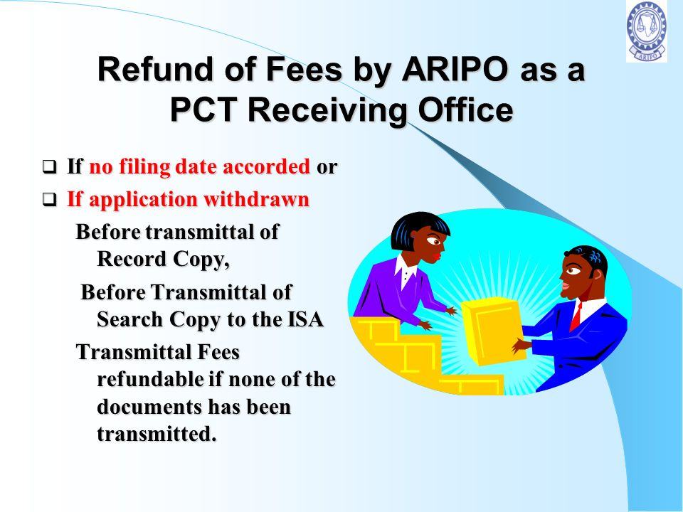 Refund of Fees by ARIPO as a PCT Receiving Office