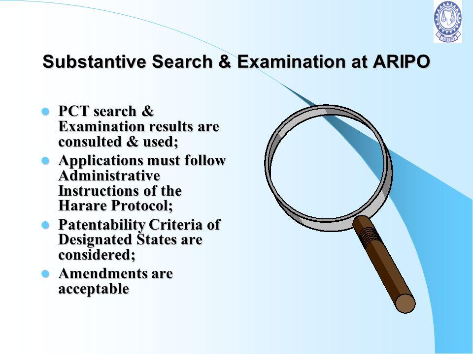 Substantive Search & Examination at ARIPO