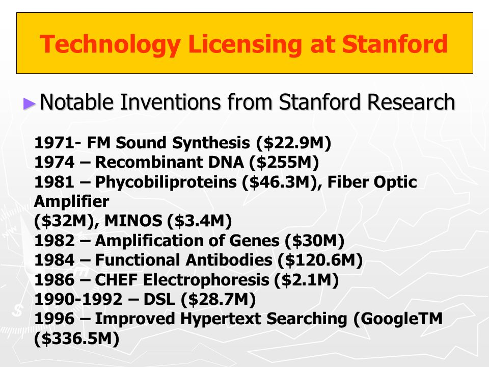 Technology Licensing at Stanford