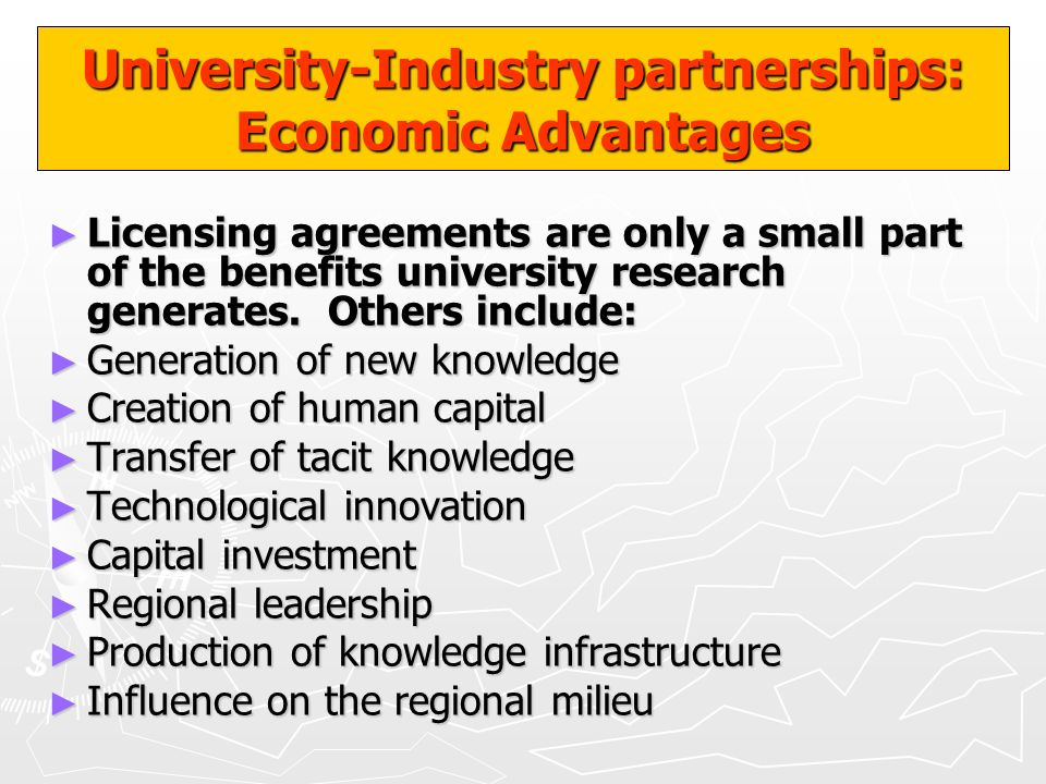 University-Industry partnerships: Economic Advantages