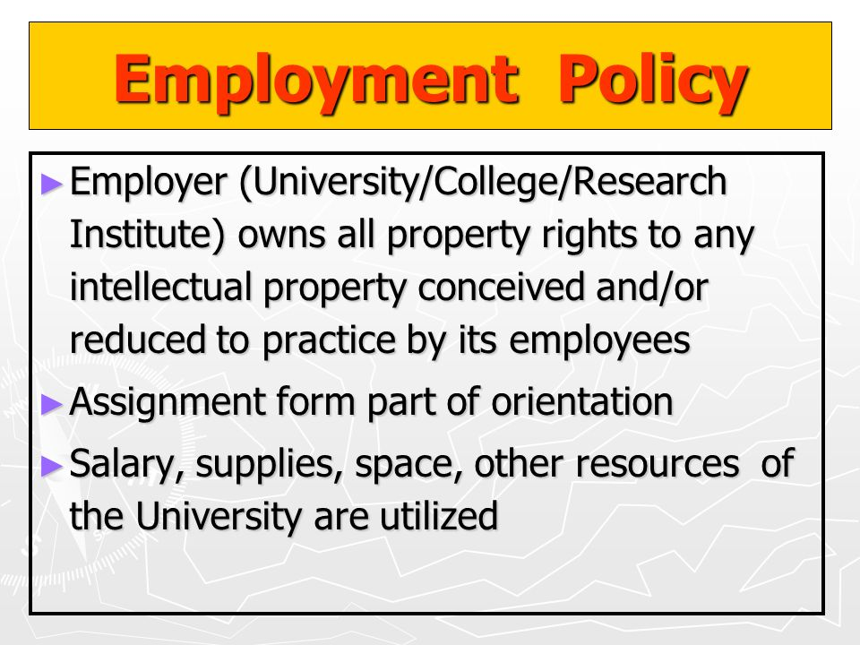 Employment Policy
