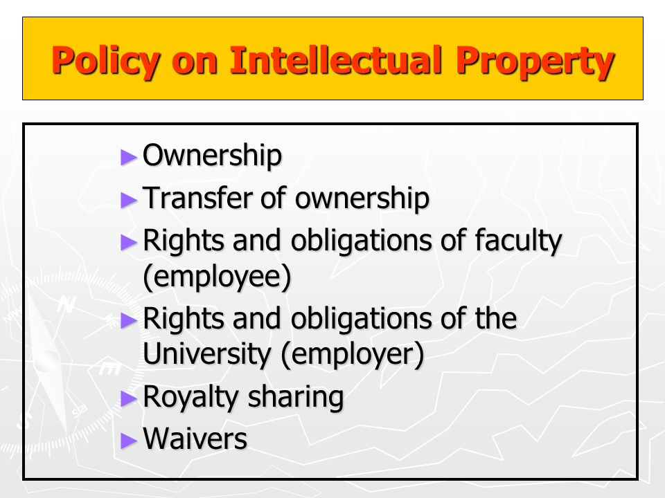 Policy on Intellectual Property