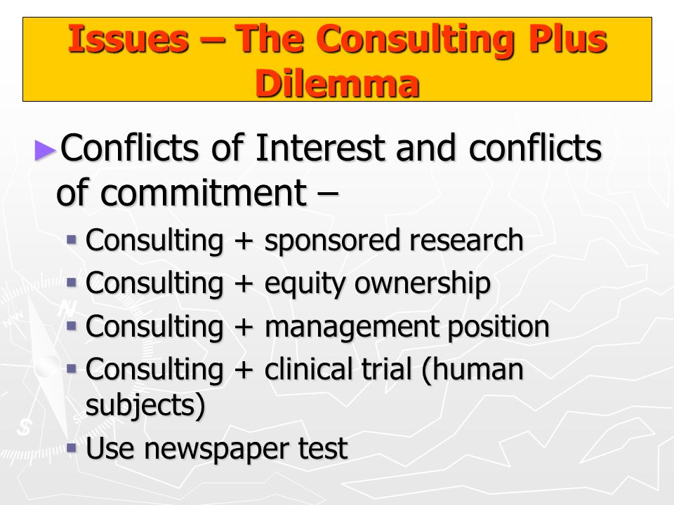 Issues – The Consulting Plus Dilemma