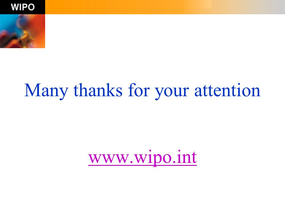 Many thanks for your attention