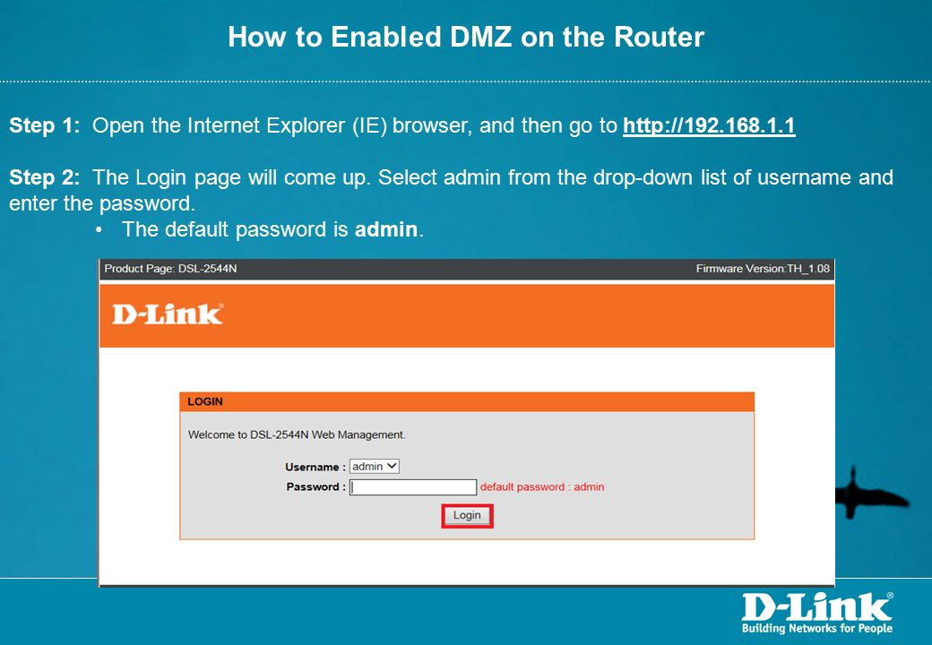 how to set dmz on router