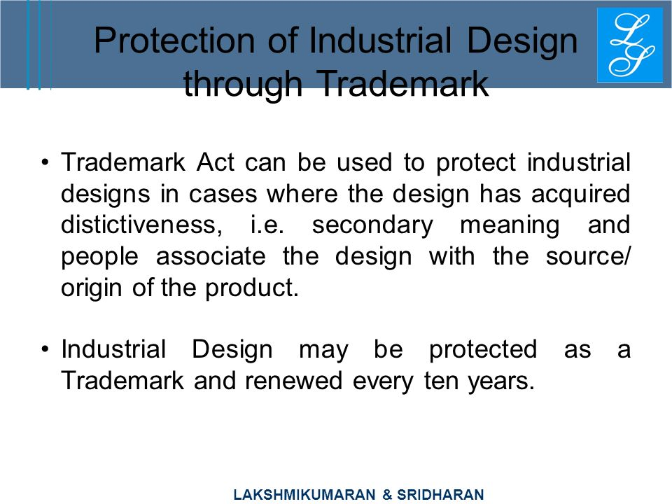 Protection of Industrial Design through Trademark