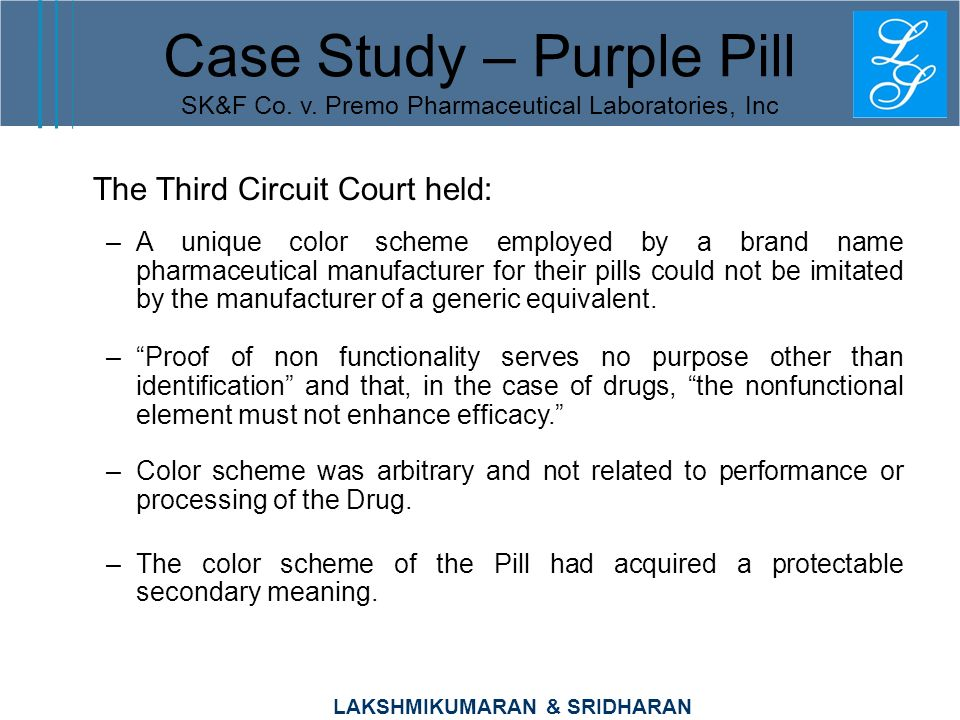 Case Study – Purple Pill SK&F Co. v