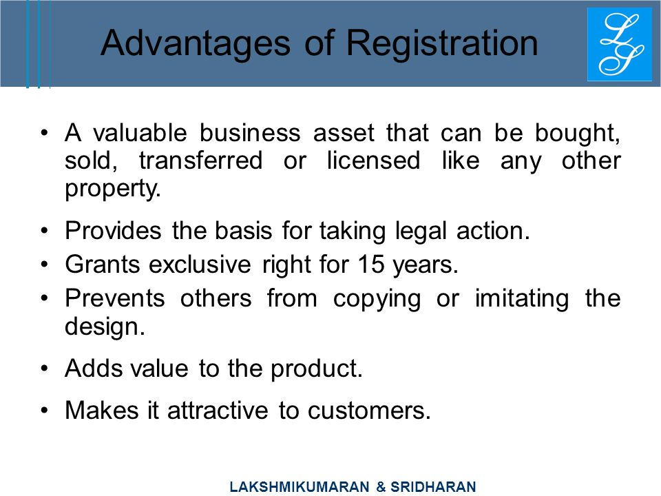 Advantages of Registration