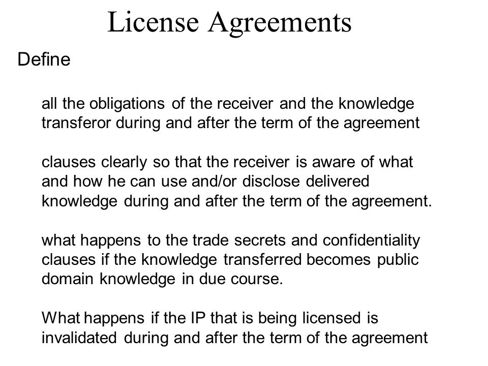 License Agreements Define