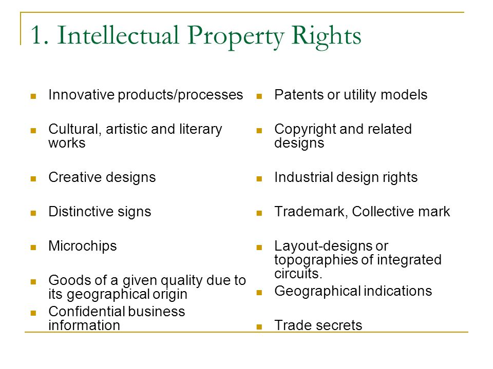 1. Intellectual Property Rights