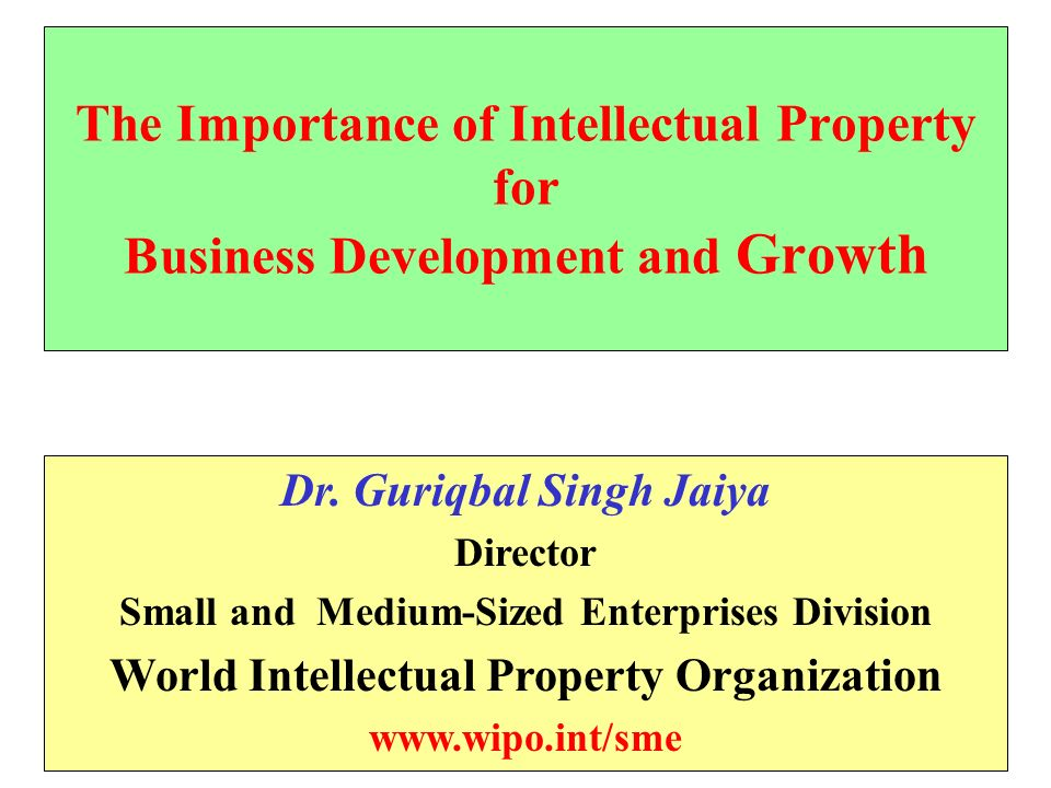The Importance of Intellectual Property for Business Development and Growth