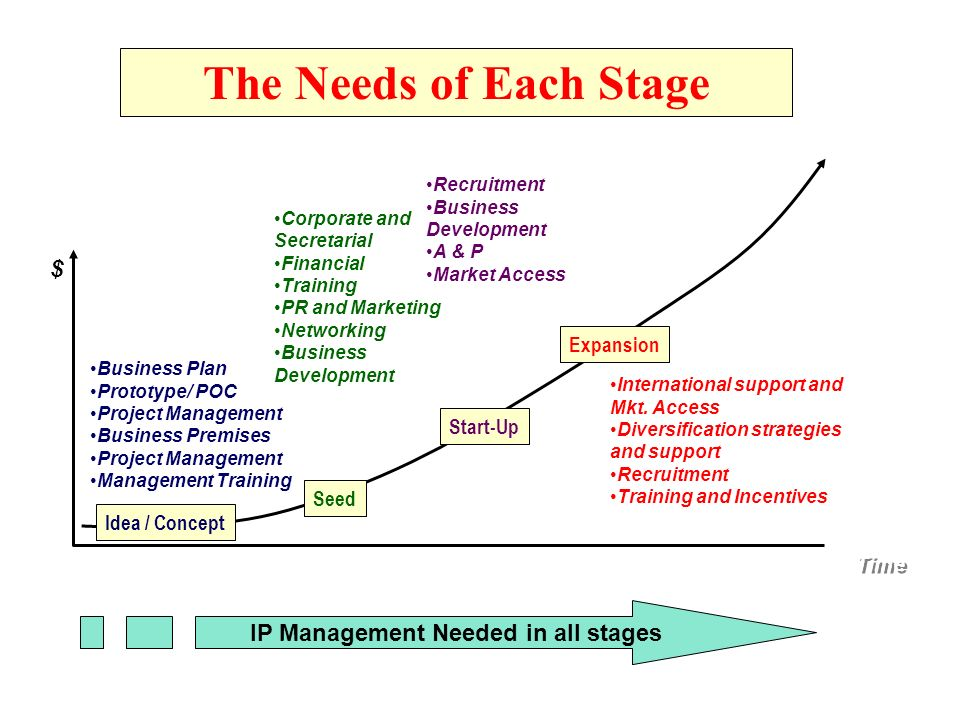 IP Management Needed in all stages