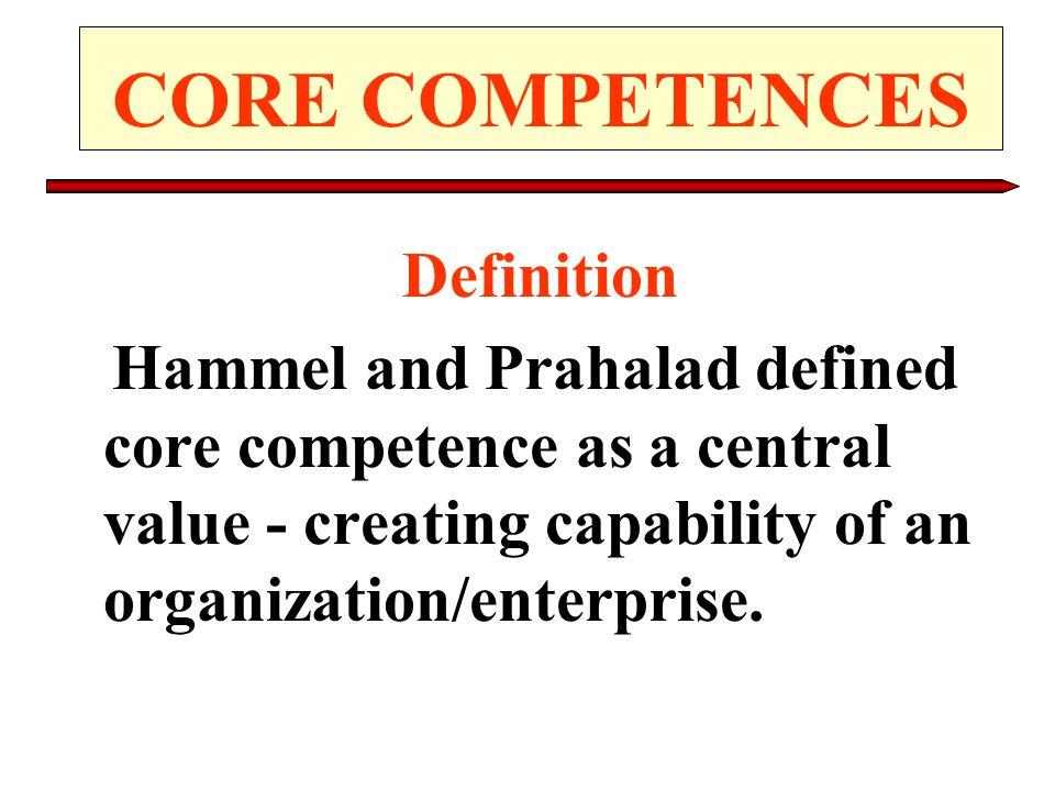 CORE COMPETENCES Definition