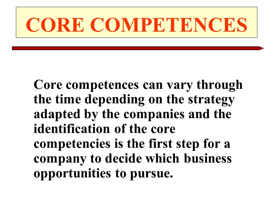 CORE COMPETENCES