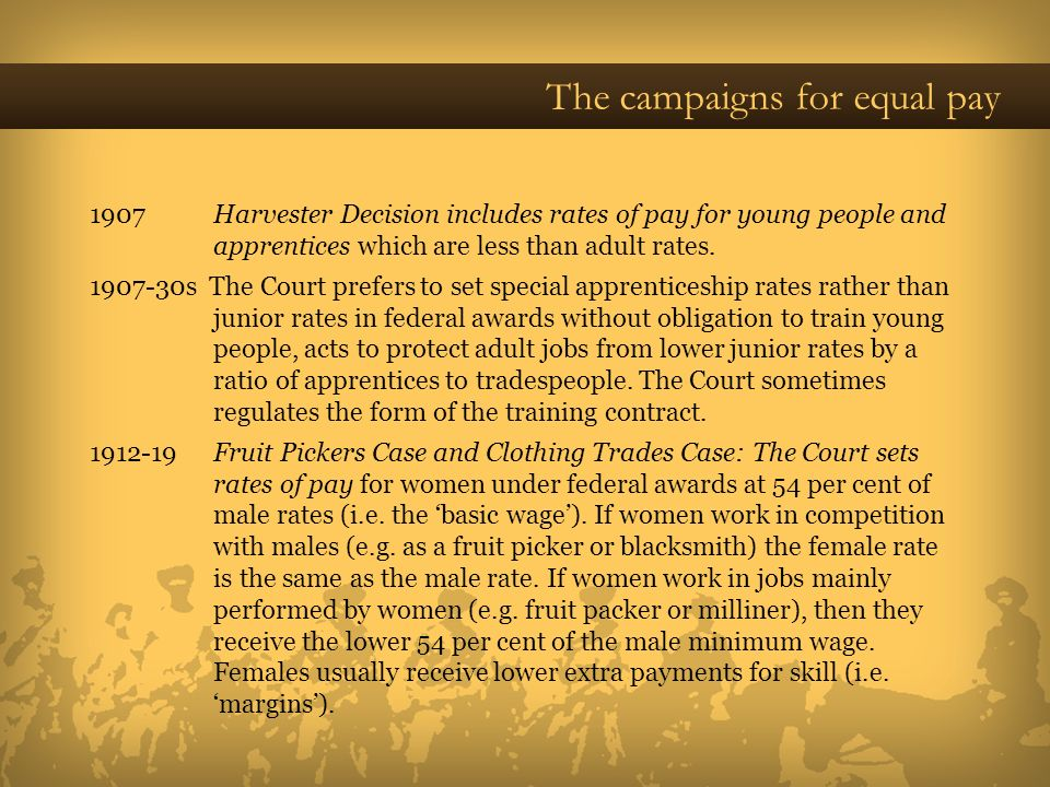 The campaigns for equal pay