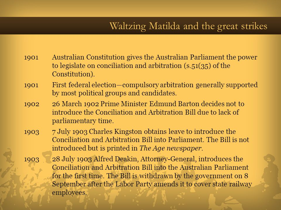 Waltzing Matilda and the great strikes