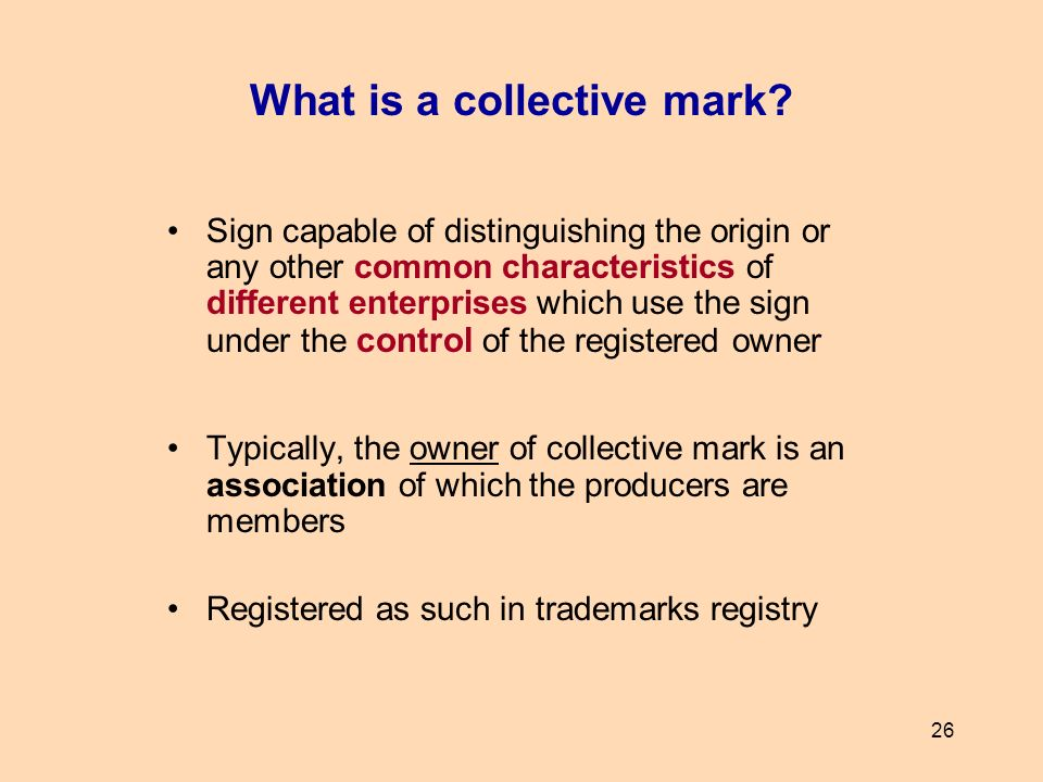 What is a collective mark