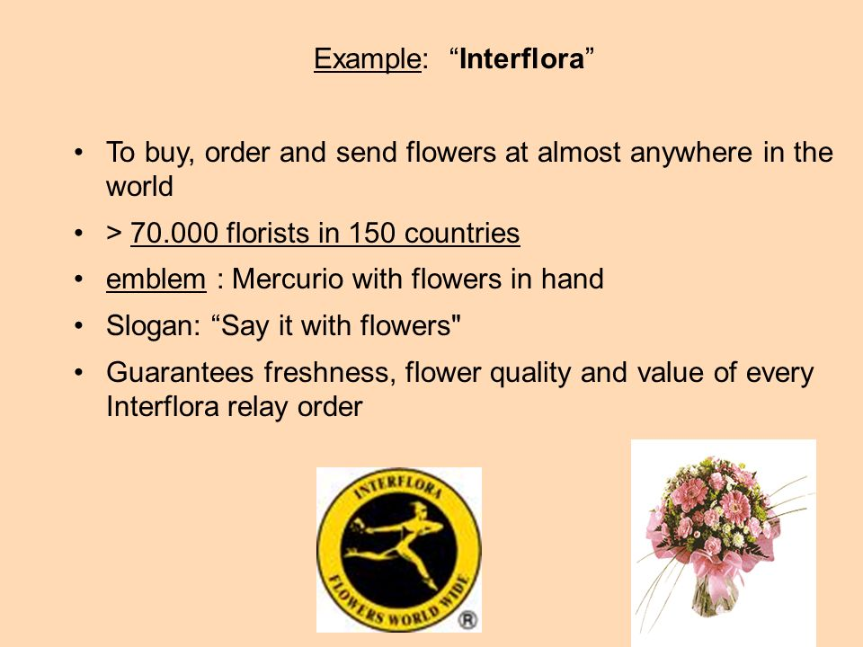Example: Interflora