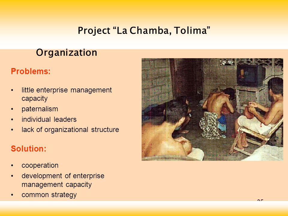 Project La Chamba, Tolima