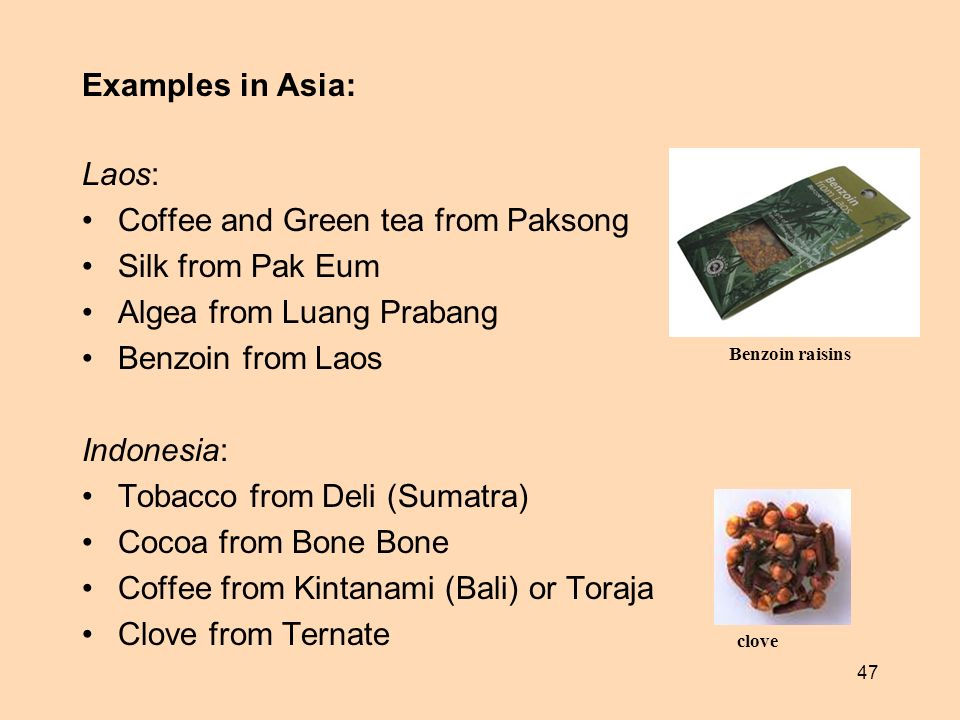 Coffee and Green tea from Paksong Silk from Pak Eum