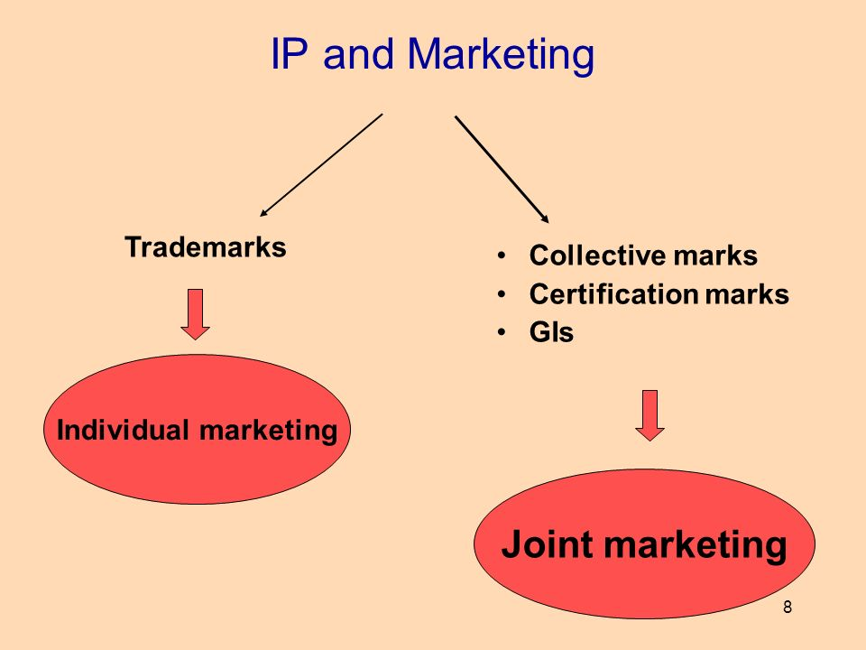 IP and Marketing Joint marketing Trademarks Collective marks