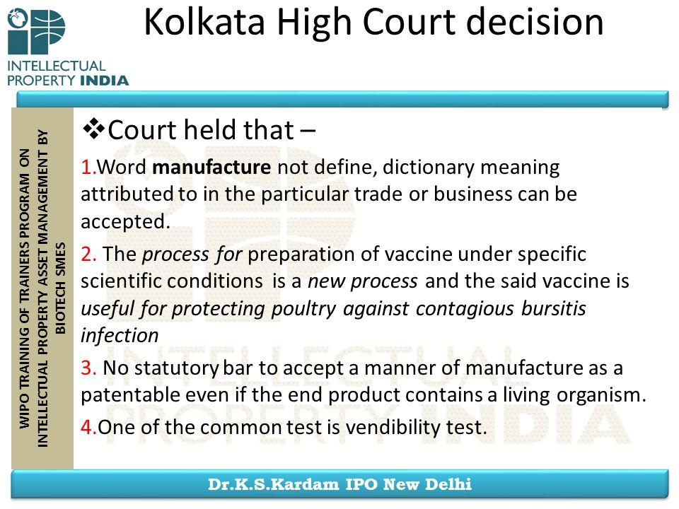 Kolkata High Court decision