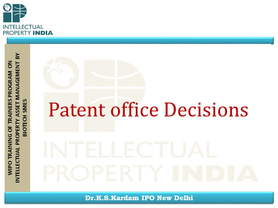 Patent office Decisions