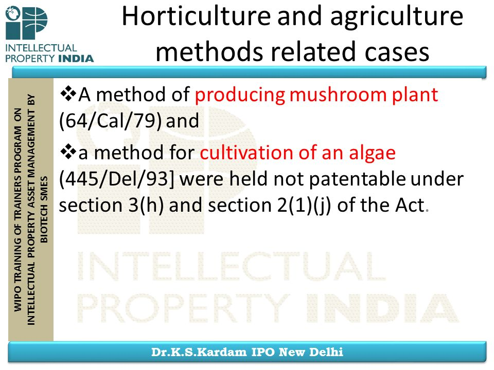 Horticulture and agriculture methods related cases