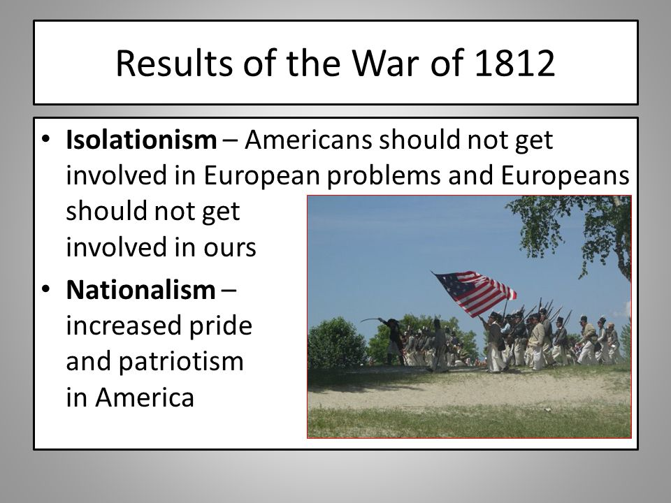 results of the war of 1812 essay Causes for the war of 1812 larry mohler bartow middle school write a well-organized essay that includes an introduction with a topic sentence that 22 what did congress do as a result of his june 1, 1812 speech 23.
