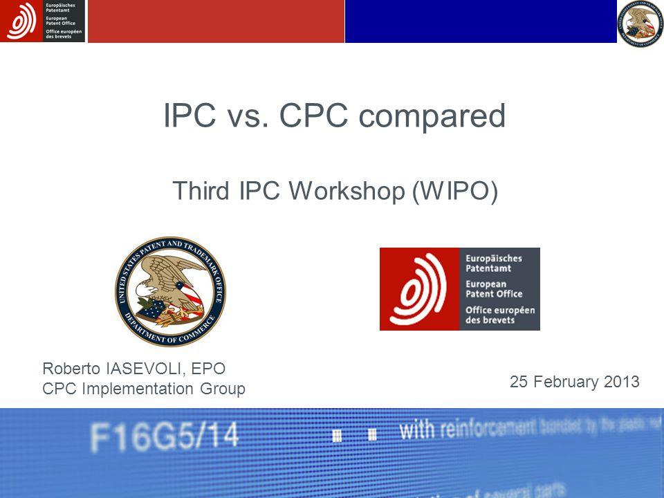 Third IPC Workshop (WIPO)
