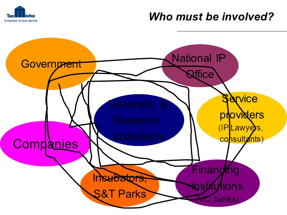 Companies Who must be involved Government National IP Office Service
