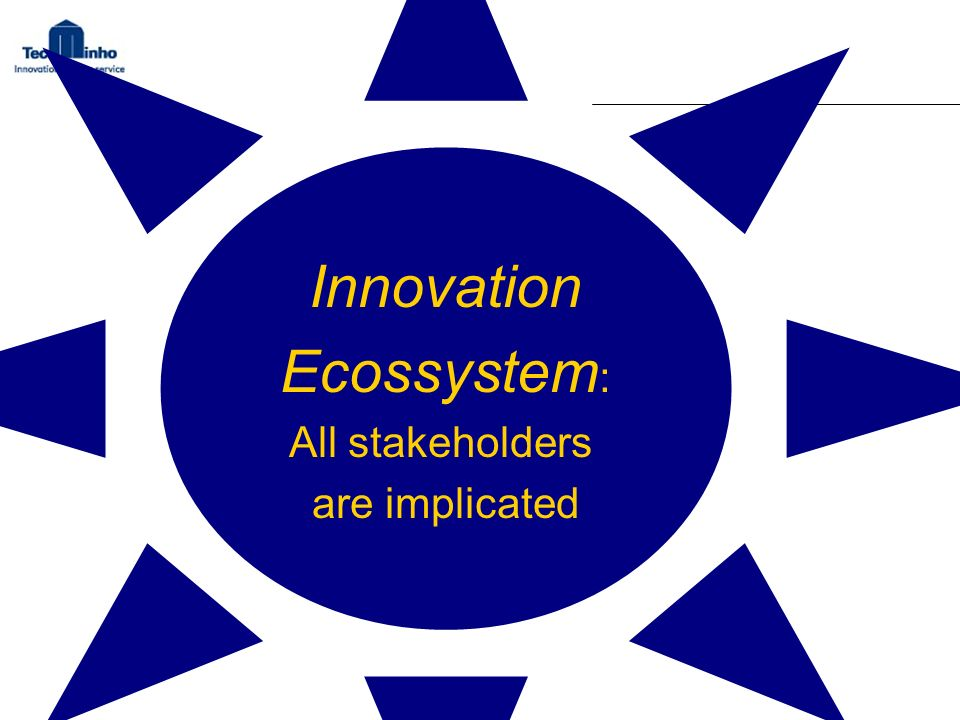 Innovation Ecossystem: All stakeholders are implicated