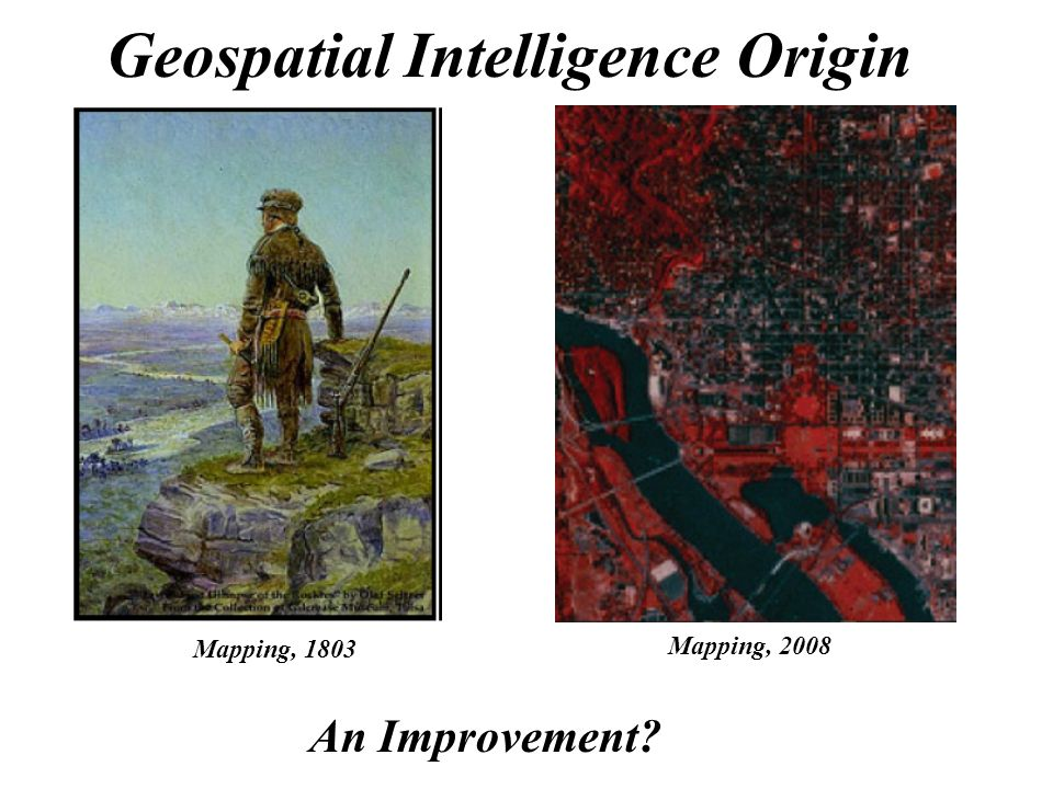 Figure 15 4 Geospatial Intelligence Origins