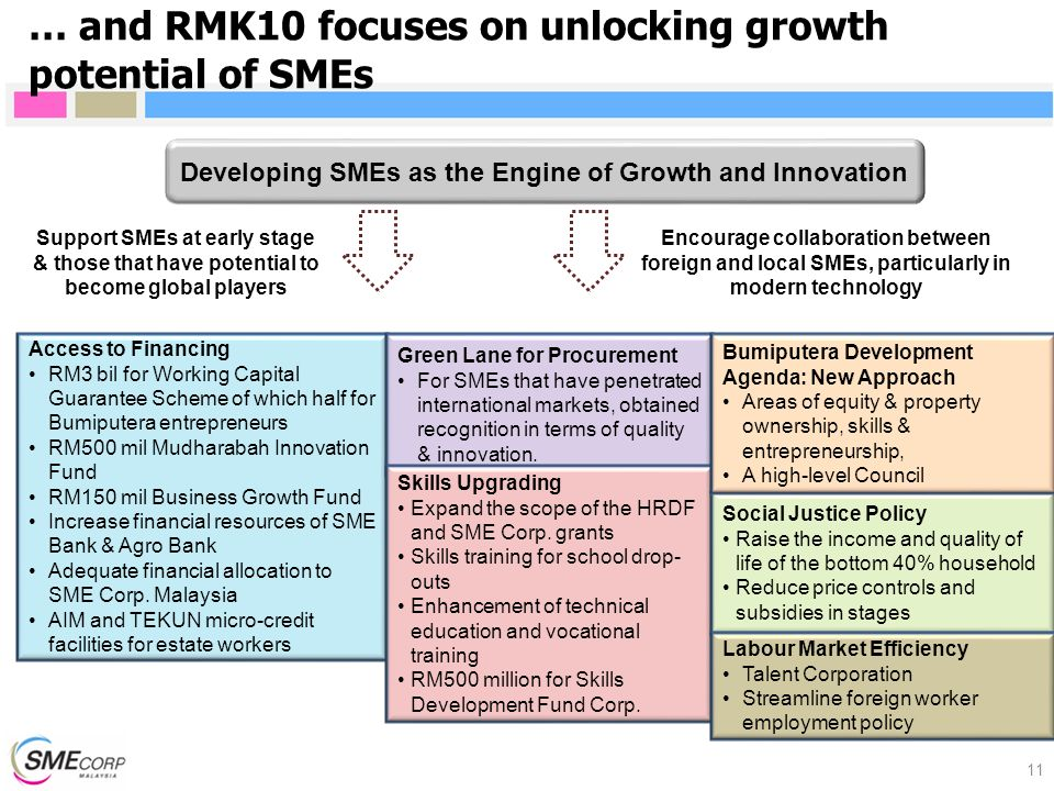 Developing SMEs as the Engine of Growth and Innovation