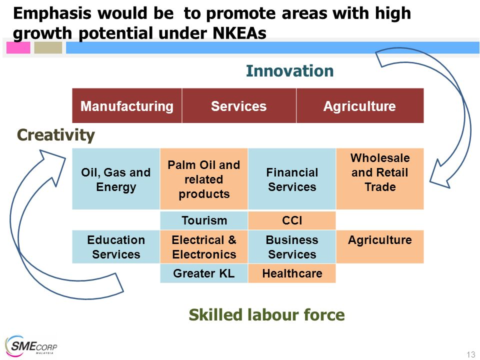 Emphasis would be to promote areas with high growth potential under NKEAs