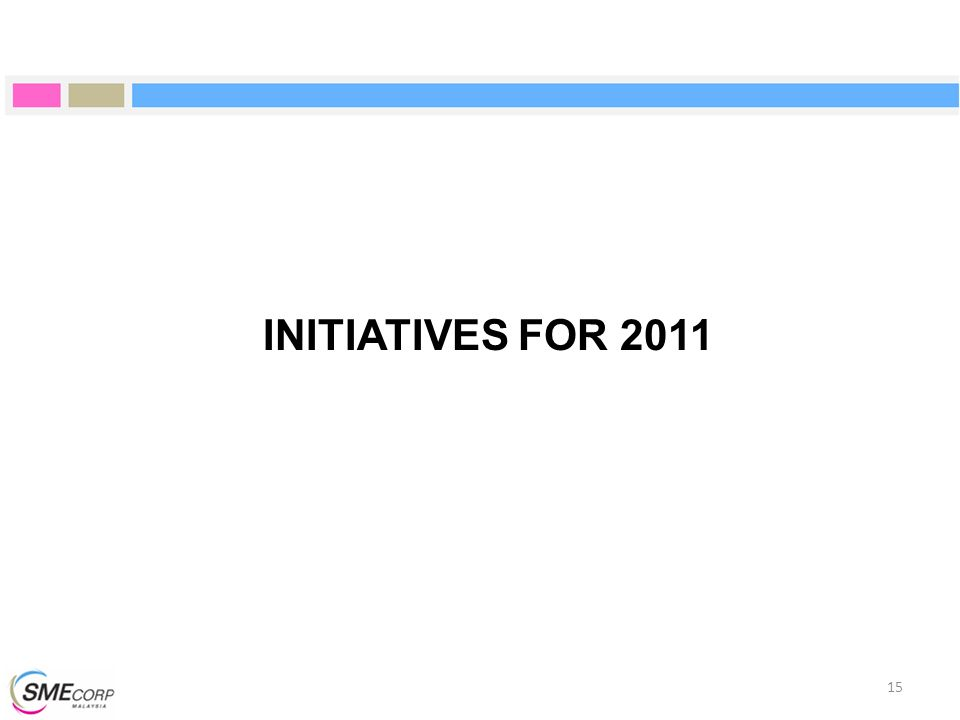 INITIATIVES FOR 2011