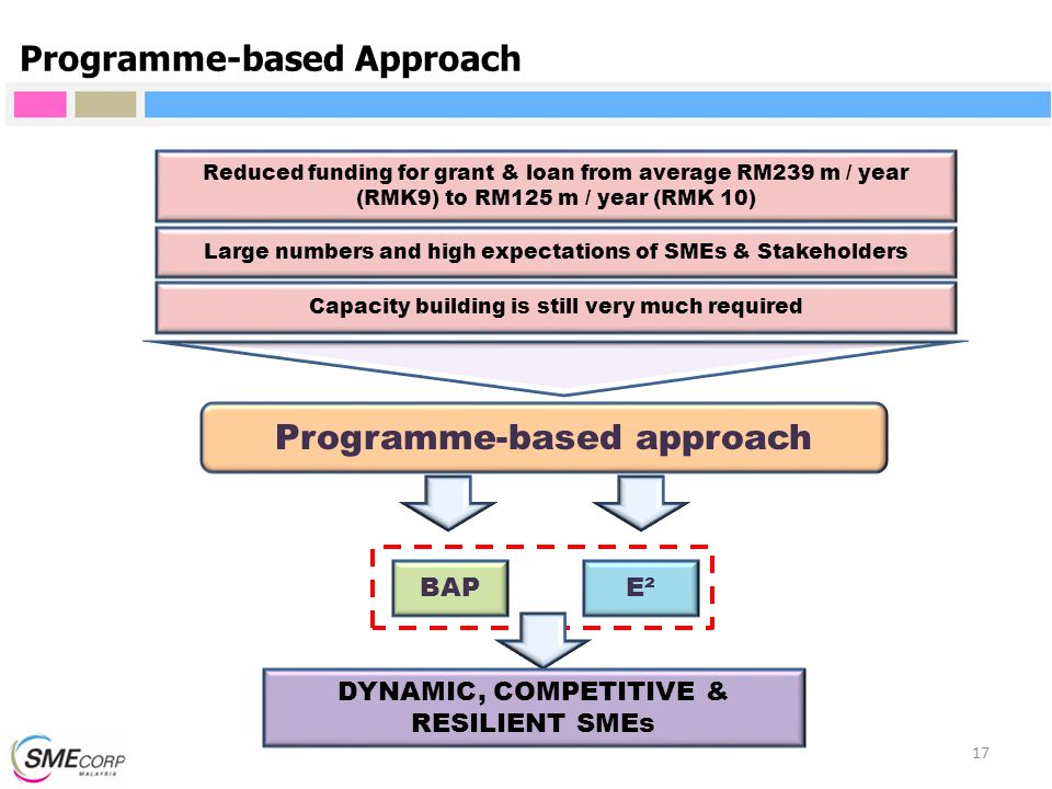 Programme-based approach DYNAMIC, COMPETITIVE & RESILIENT SMEs
