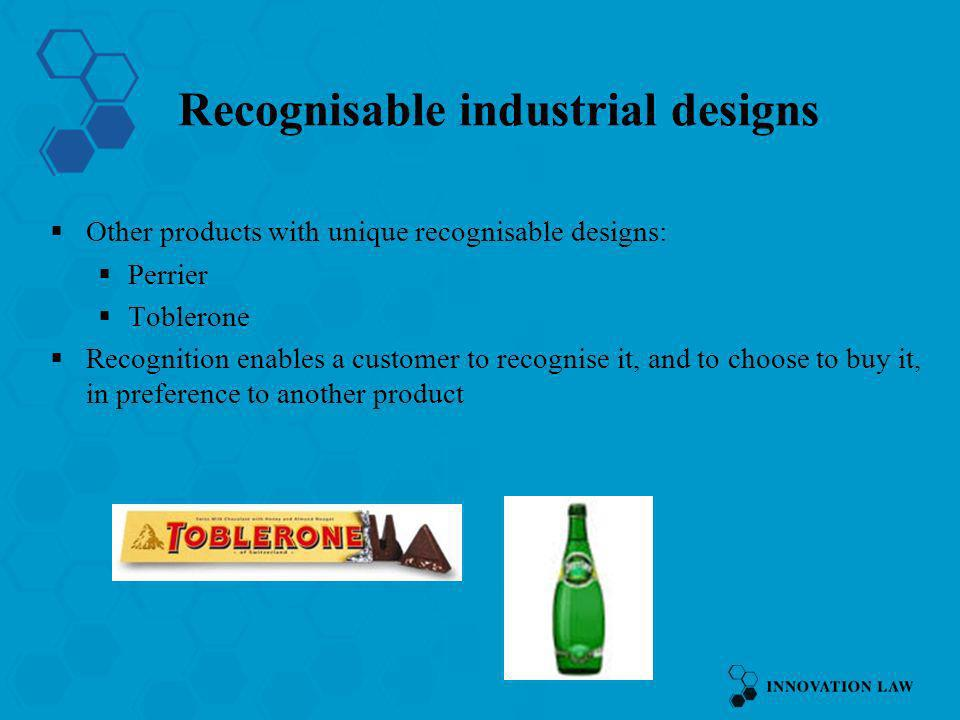 Recognisable industrial designs