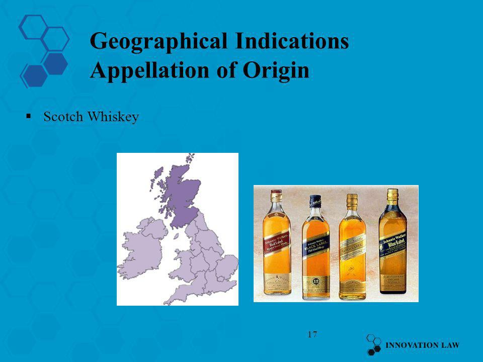 Geographical Indications Appellation of Origin