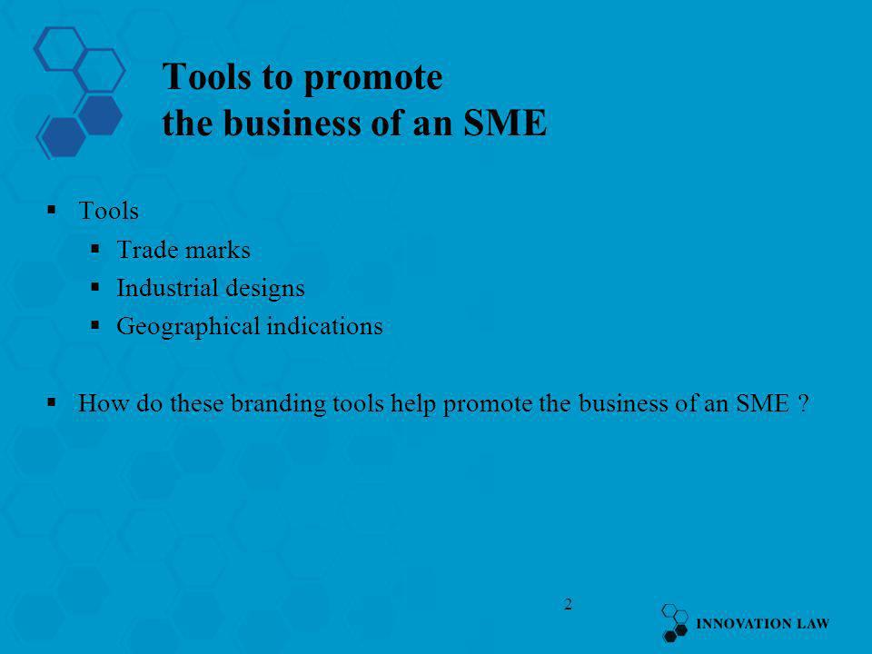 Tools to promote the business of an SME