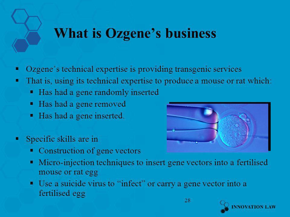 What is Ozgene's business