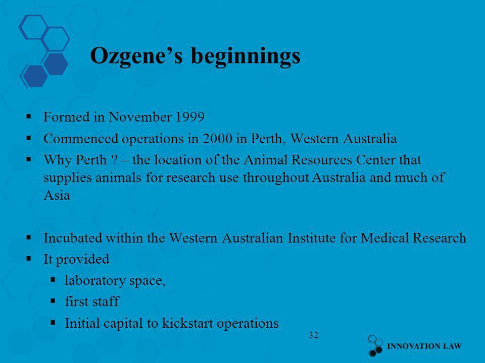 Ozgene's beginnings Formed in November 1999