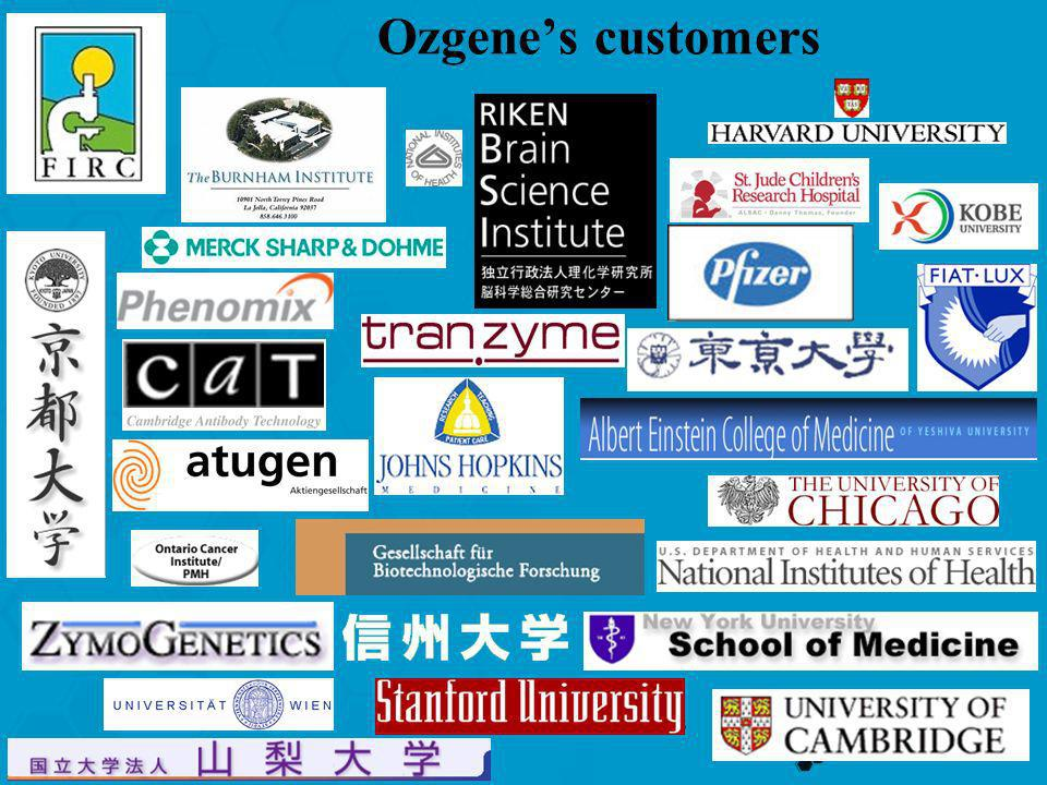 Ozgene's customers
